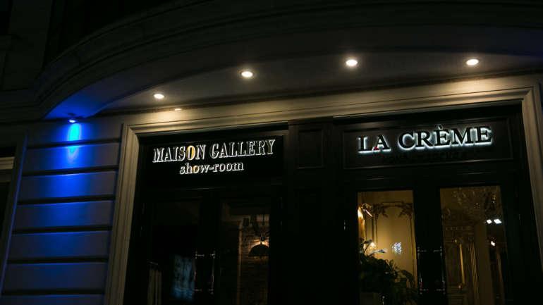 Вывеска для кафе-бара «La Creme»